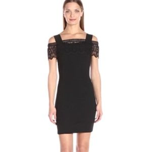 French Connection Petra Lace B Cold Shoulder Dress